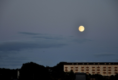 View of full moon from the apartment