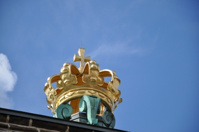 Swedish Crown on top. It's made out of wood