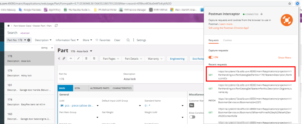 Capture IFS Requests using Postman Interceptor