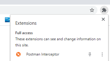 Setting up Postman Interceptor to capture IFS Aurena requests step 1 - add Postman chrome extension