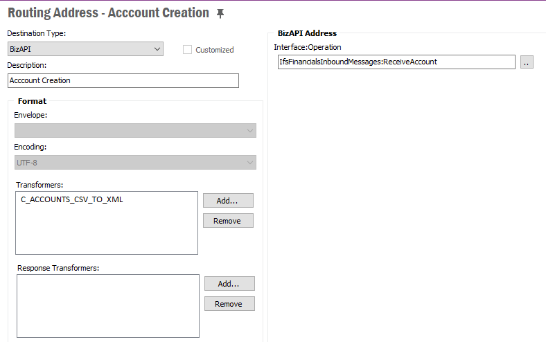 Routing Address in IFS Applications 10.