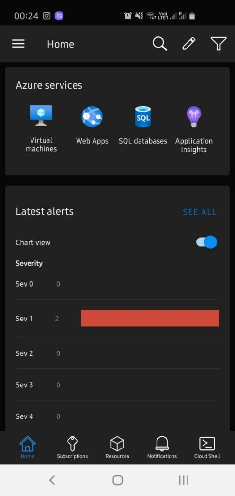 Alerts in Azure mobile app